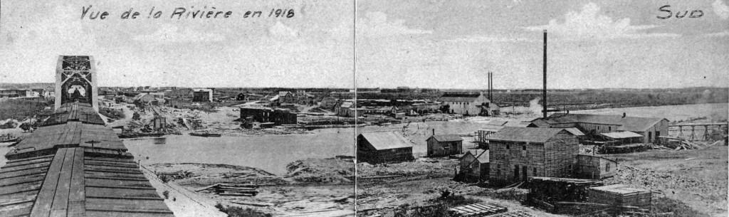 61-01-58 Les traverses de l'Harricana #4 pont ch. fer 1918 coll. G. Arbour