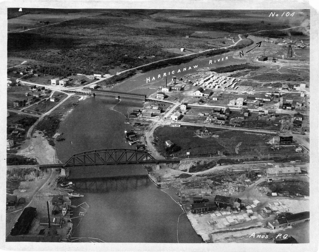 61-01-58 Les traverses de l'Harricana #5 2 ponts SHA 1925 coll. G. Arbour