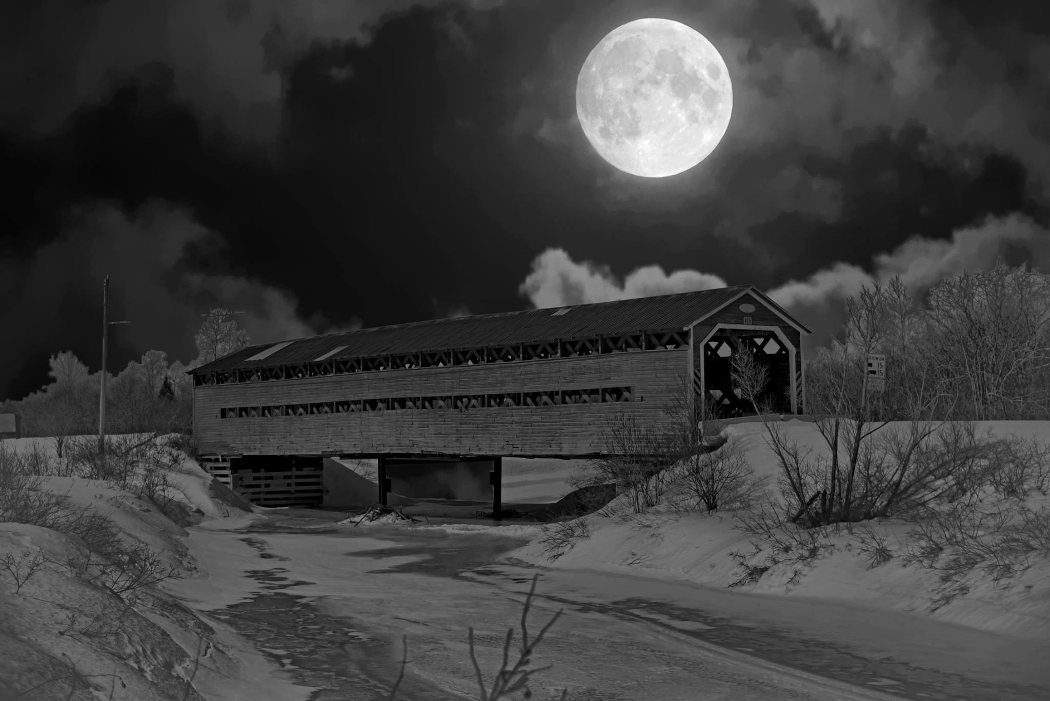 Par un soir de pleine lune au pont de l arche de no - Date pleine lune octobre 2017 ...